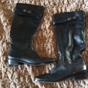 Black COACH tall riding boot size 11